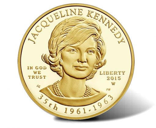 2015-W $10 Proof Jacqueline Kennedy First Spouse Gold Coin - Obverse