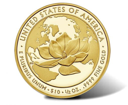 2015-W $10 Proof Jacqueline Kennedy First Spouse Gold Coin - Reverse
