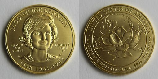 2015-W $10 Uncirculated Jacqueline Kennedy First Spouse Gold Coin Photo