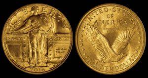 2016 24k Gold Standing Liberty Quarter Mock-up