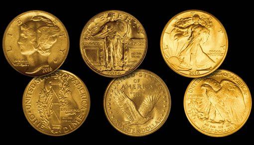 2016 Centennial 24k Gold Coin Mock-Ups