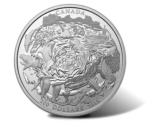 Canadian 2015 $200 Coastal Waters Silver Coin