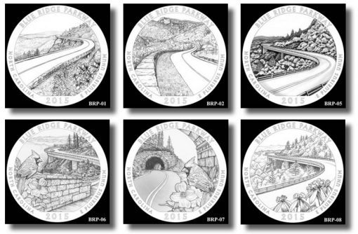 Design candidates for the Blue Ridge Parkway Quarter