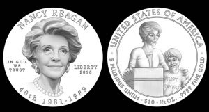 Nancy Reagan First Spouse Gold Coin Designs