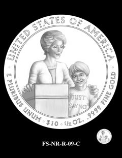 Nancy Reagan First Spouse Gold Coin Design Candidate FS-NR-R-09-C