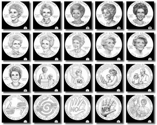Nancy Reagan First Spouse Gold Coin Designs