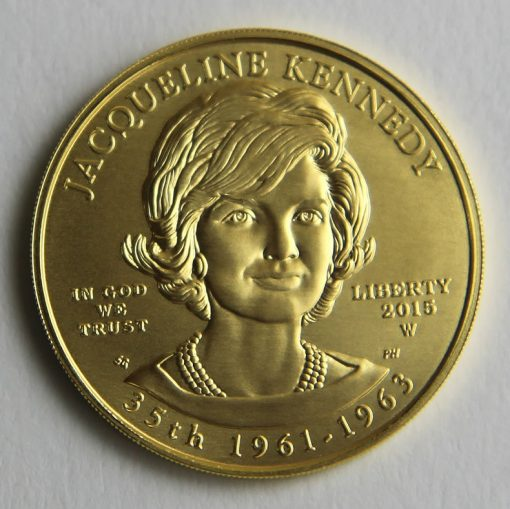 Photo of 2015-W $10 Uncirculated Jacqueline Kennedy First Spouse Gold Coin - Obverse