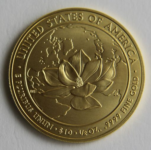 Photo of 2015-W $10 Uncirculated Jacqueline Kennedy First Spouse Gold Coin - Reverse