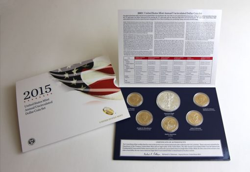 Photo of the 2015 Annual Uncirculated Dollar Coin Set