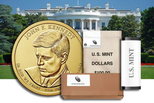 Rolls, Bags and Boxes of John F. Kennedy Presidential $1 Coins