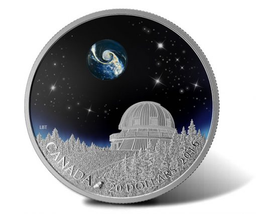 2016 $20 Universe Silver Coin from Canadian Star Gazing Series