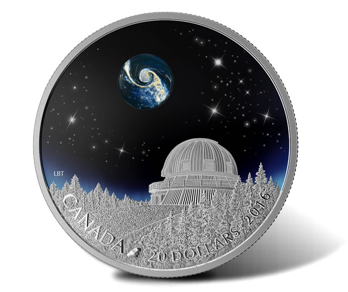 2015 $20 Universe Silver Coin from Canadian Star Gazing Series
