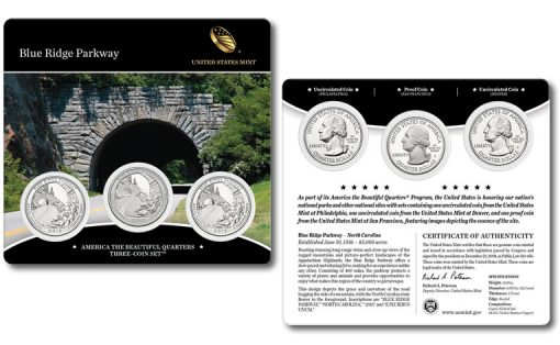 2015 Blue Ridge Parkway Quarters Three-Coin Set