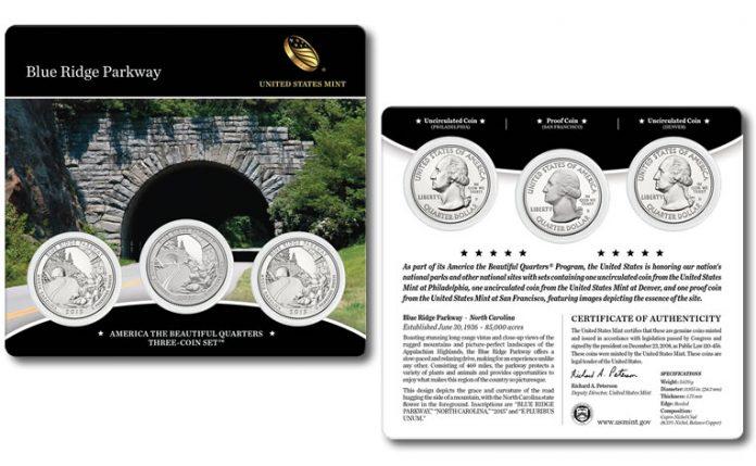 2015 Blue Ridge Parkway Quarters Three-Coin Set
