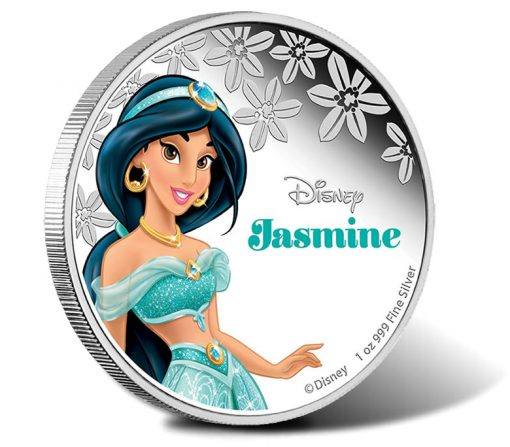 2015 Disney Princess Jasmine Silver Coin