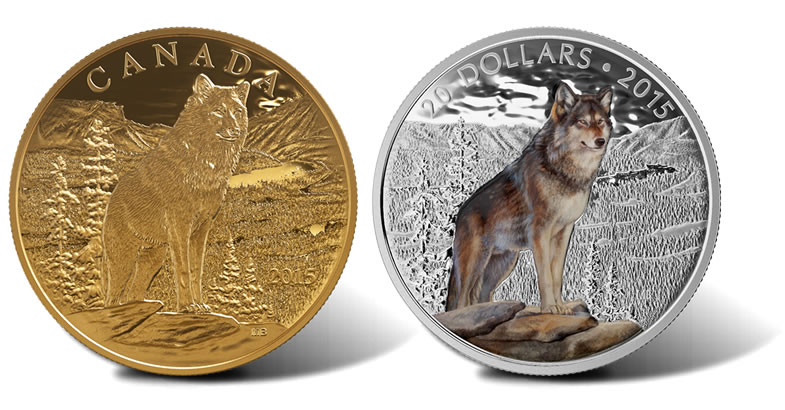 2015 Canadian Coins Depict Imposing Alpha Wolf Coin News
