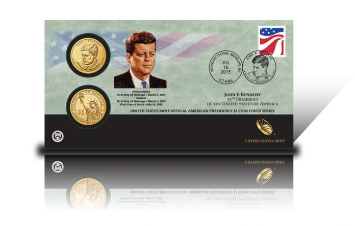 2015 John F. Kennedy $1 Coin Cover