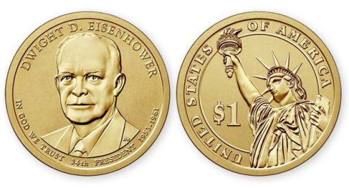 2015-P Reverse Proof Dwight D. Eisenhower Presidential $1 Coin