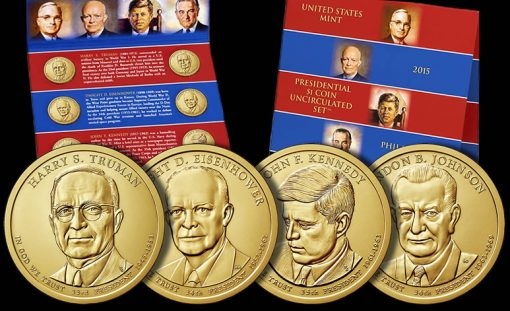2015 Presidential $1 Coin Uncirculated Set