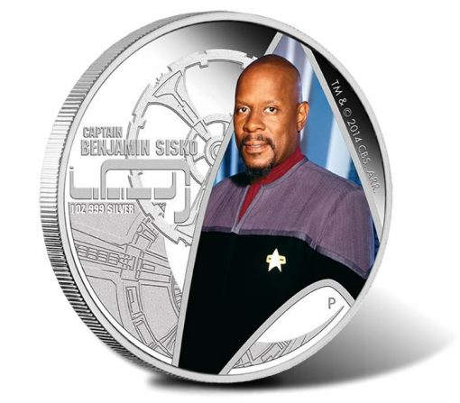 2015 Star Trek Deep Space Nine Captain Benjamin Sisko Silver Proof Coin