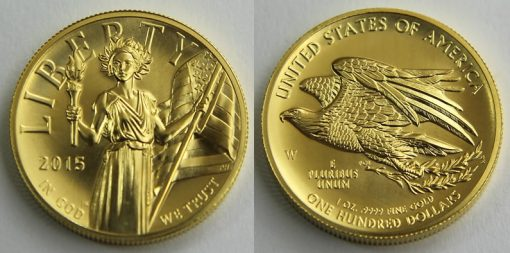 2015-W $100 American Liberty High Relief Gold Coin