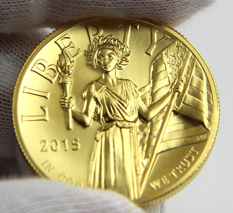 美自由女神纪念金币 首见非裔女性脸孔