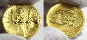 2015-W $100 American Liberty High Relief Gold Coin in Hand