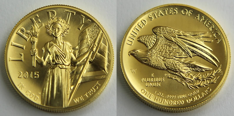2017 W 100 American Liberty High Relief Gold Coin