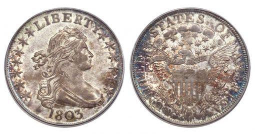 1803 Large 3 Half Dollar