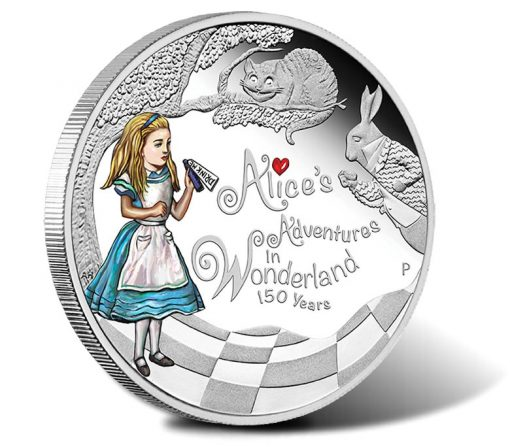 Alice's Adventures in Wonderland 2015 Silver Proof Coin