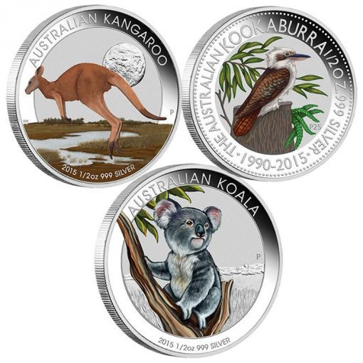 Australian Outback 2015 Silver Coloured Coin Collection
