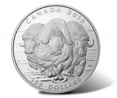 Canadian 2015 $100 Muskox Silver Coin for $100