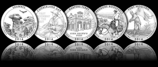 Designs for 2016 America the Beautiful Quarters and 5 Oz Silver Coins
