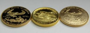 Edges of 2015 Proof Gold Eagle, 2015 American Liberty High Relief and 2015 Uncirculated Gold Eagle