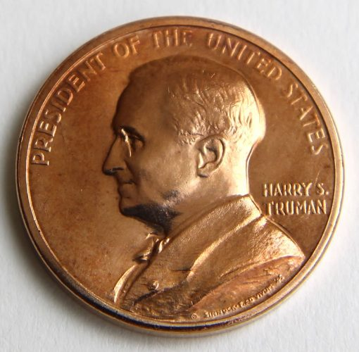 Harry S. Truman Presidential Bronze Medal, Obverse
