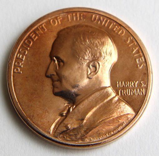 Harry S. Truman Presidential Bronze Medal, Obverse