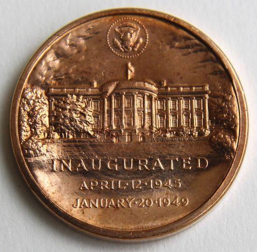 Harry S. Truman Presidential Bronze Medal, Reverse