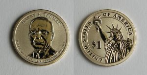 Photo of 2015-P Reverse Proof Harry S. Truman Presidential $1 Coin