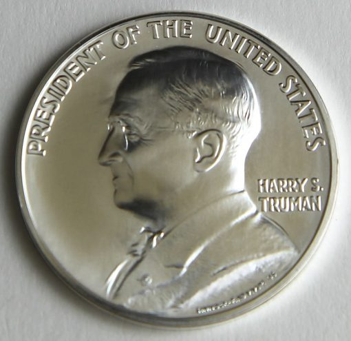 Photo of Harry S. Truman Presidential Silver Medal, Obverse