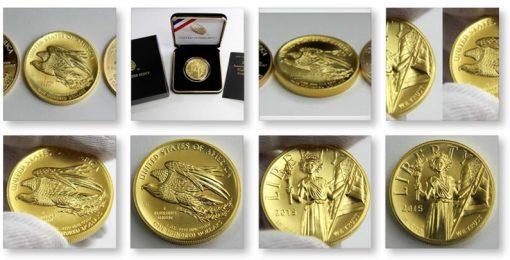 Photos of 2015 $100 American Liberty High Relief Gold Coin