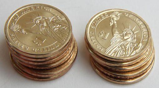 Reverses of Presidential $1 Coins