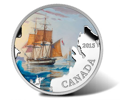 2015 $20 Franklin's Lost Expedition Silver Coin