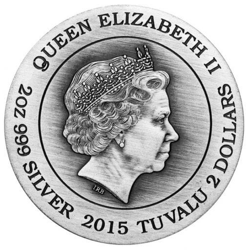 2015 Aphrodite High Relief 2 oz Silver Coin - Obverse