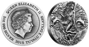 2015 Aphrodite Coin Ends Goddesses of Olympus Series