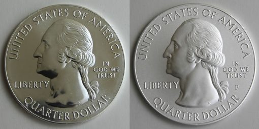 2015 Blue Ridge Parkway 5 Oz Silver Bullion and Uncirculated Coins, Obverses