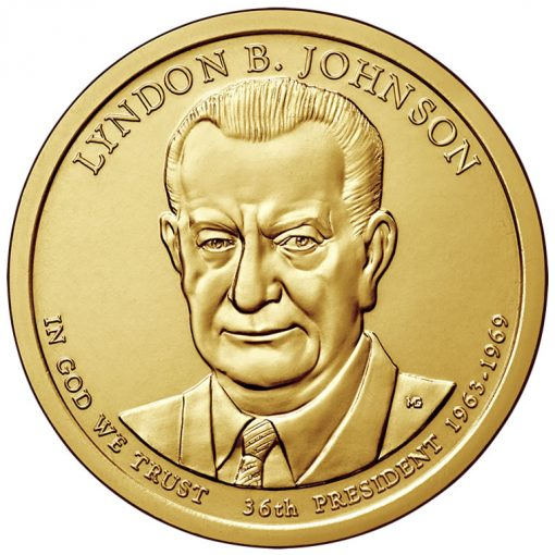 2015 Lyndon B. Johnson Presidential $1 Coin