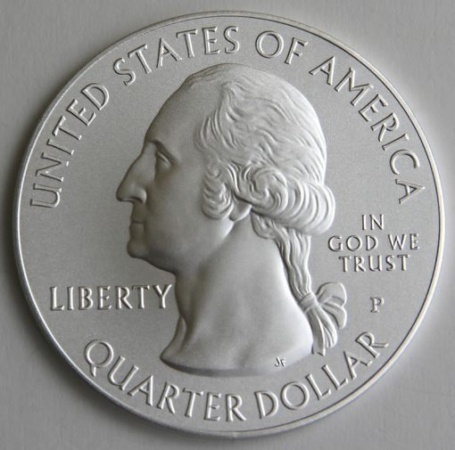 2015-P Blue Ridge Parkway Five Ounce Silver Uncirculated Coin, Obverse