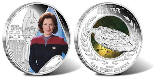 2015 Star Trek Voyager Silver Coins