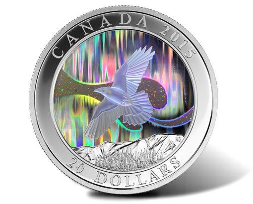 2015 The Raven 1 oz Silver Hologram Coin