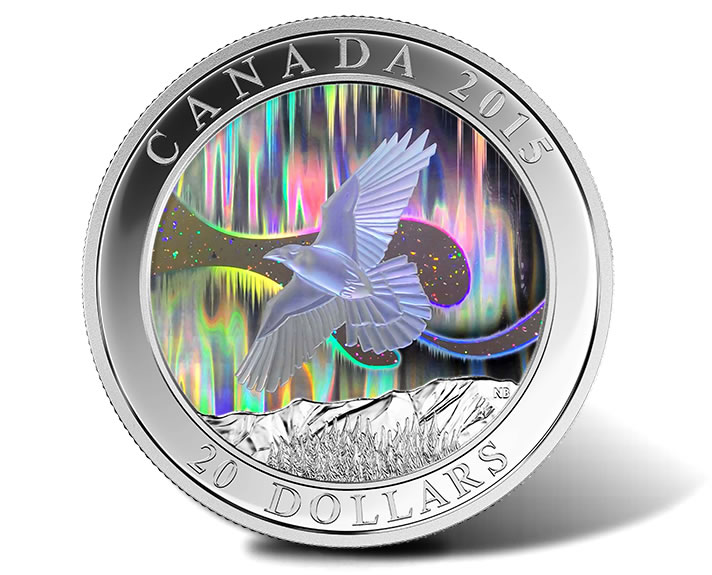 Flying Raven Featured On Canadian Hologram Coin Coin News